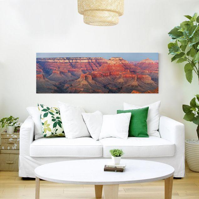Leinwandbild - Grand Canyon nach dem Sonnenuntergang - Quadrat 1:1