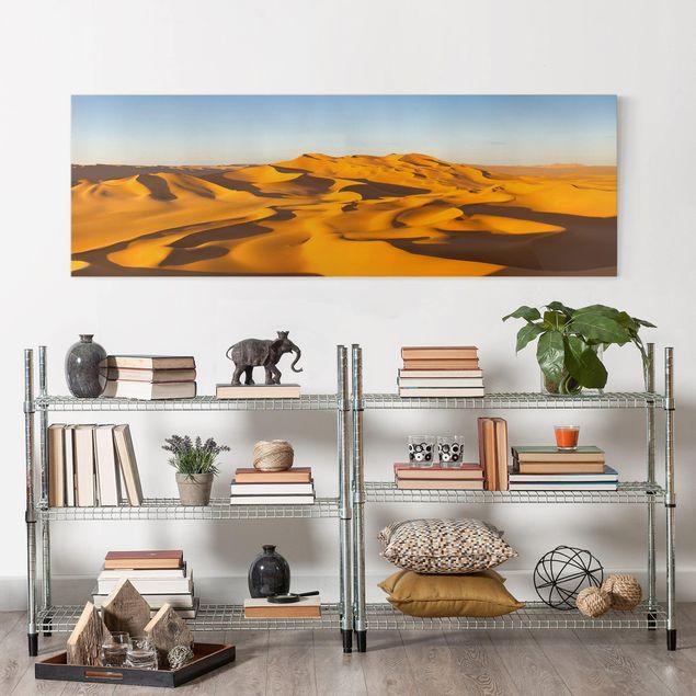 Leinwandbild - Murzuq Desert In Libya - Panorama Quer