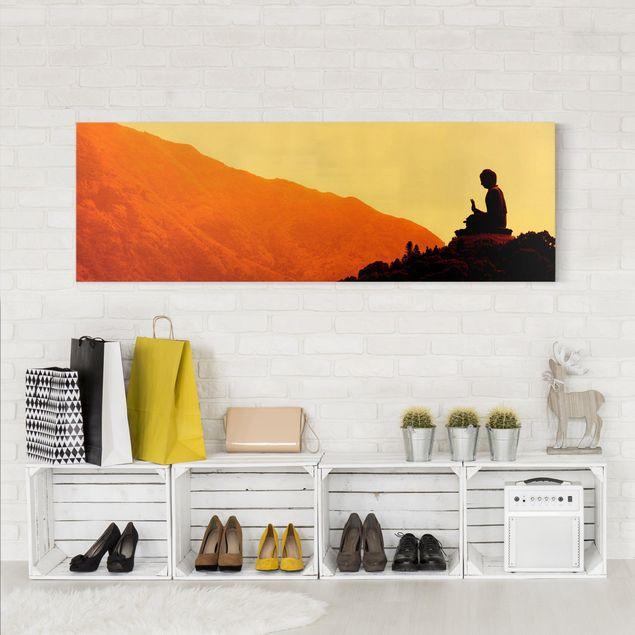 Leinwandbild - Resting Buddha - Panorama Quer