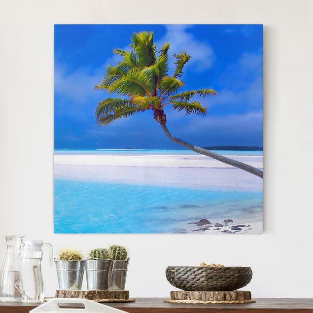 Leinwandbild - Tropical Dream - Quadrat 1:1