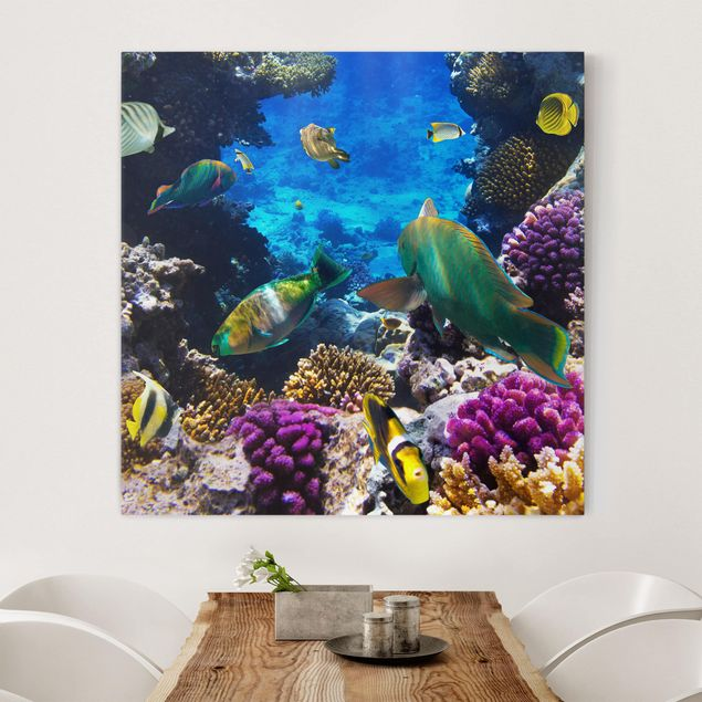 Leinwandbild - Underwater Dreams - Quadrat 1:1