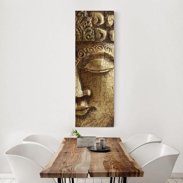 Leinwandbild - Vintage Buddha - Panorama Hoch