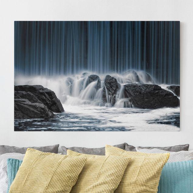 Leinwandbild - Wasserfall in Finnland - Quer 3:2
