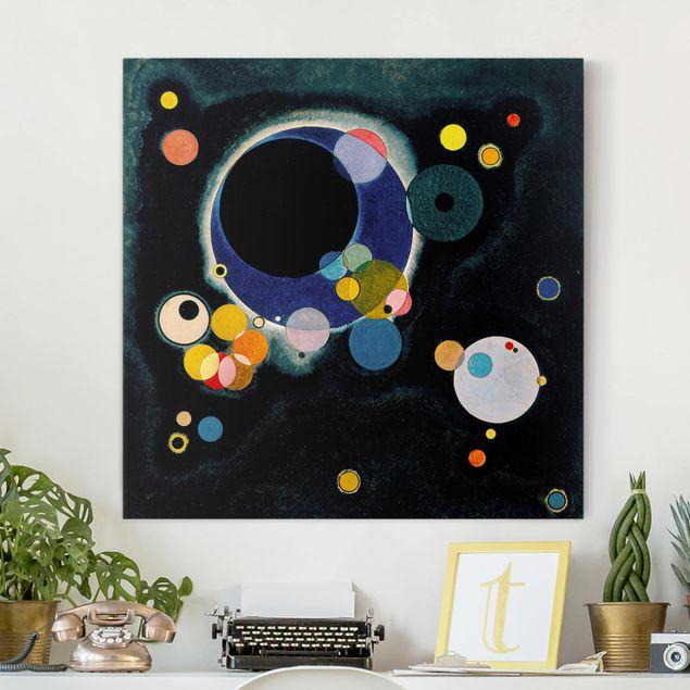 Leinwandbild - Wassily Kandinsky - Skizze für 'Einige Kreise' - Quadrat 1:1