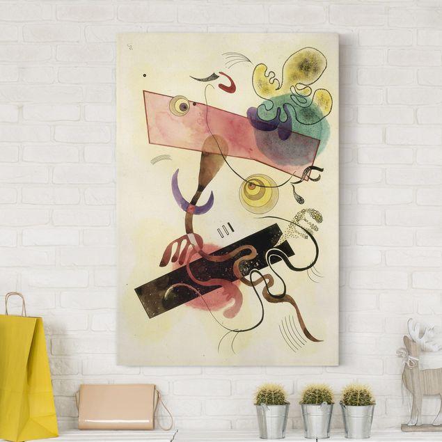 Leinwandbild - Wassily Kandinsky - Taches: Verte et Rose (Flecken: Grün und Rosa) - Hoch 2:3
