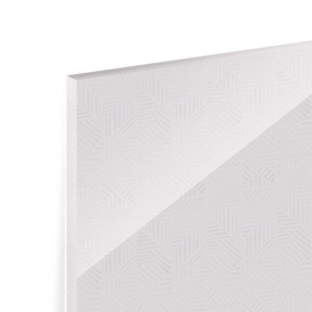 Spritzschutz Glas - Linienmuster Verlauf in Rosa - Querformat 3:2