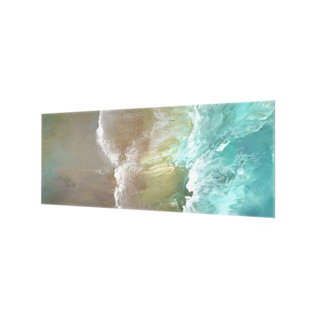 Spritzschutz Glas - Luftküste - Panorama 5:2