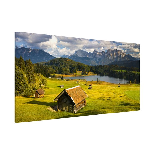 Magnettafel - Geroldsee Oberbayern - Memoboard Panorama Querformat
