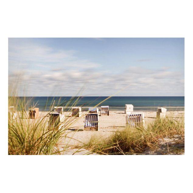 Magnettafel - Ostsee und Strandkörbe - Memoboard Querformat