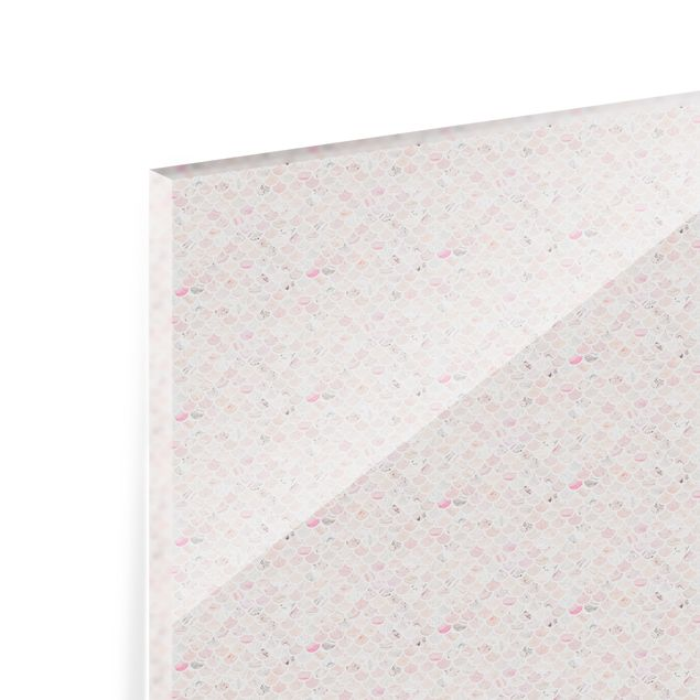 Spritzschutz Glas - Marmor Muster Rosé - Querformat 3:2