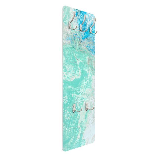 Garderobe - Marmoriereffekt Pastellblau