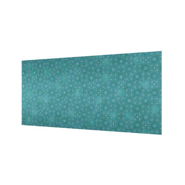 Spritzschutz Glas - Marokkanisches Blumen Muster - Querformat 2:1
