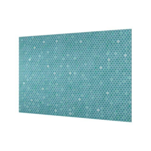 Spritzschutz Glas - Marokkanisches Ornament Muster - Querformat 3:2