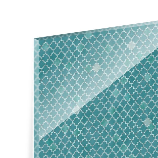 Spritzschutz Glas - Marokkanisches Ornament Muster - Quadrat 1:1
