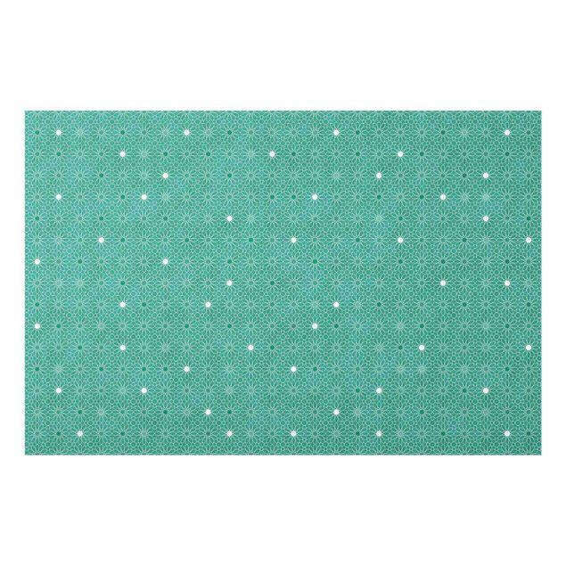 Spritzschutz Glas - Marokkanisches Sternen Muster - Querformat 3:2