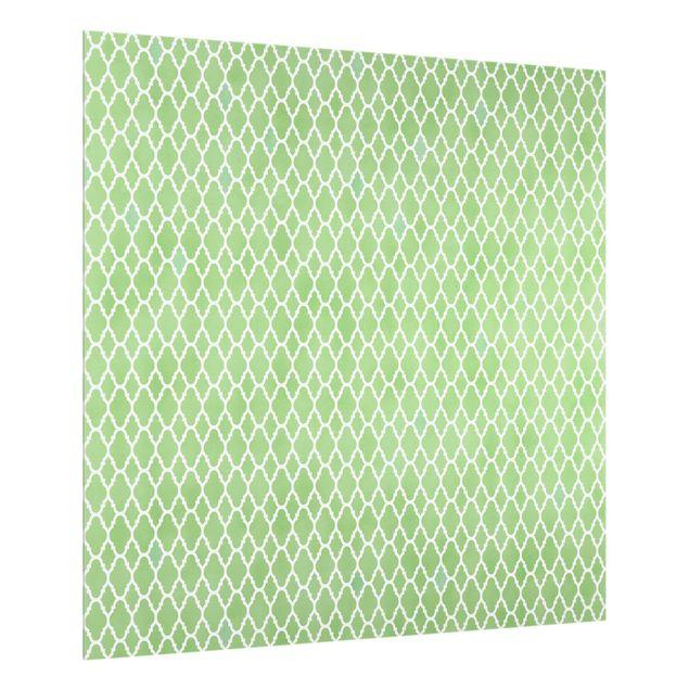 Spritzschutz Glas - Marokkanisches Waben Muster - Quadrat 1:1