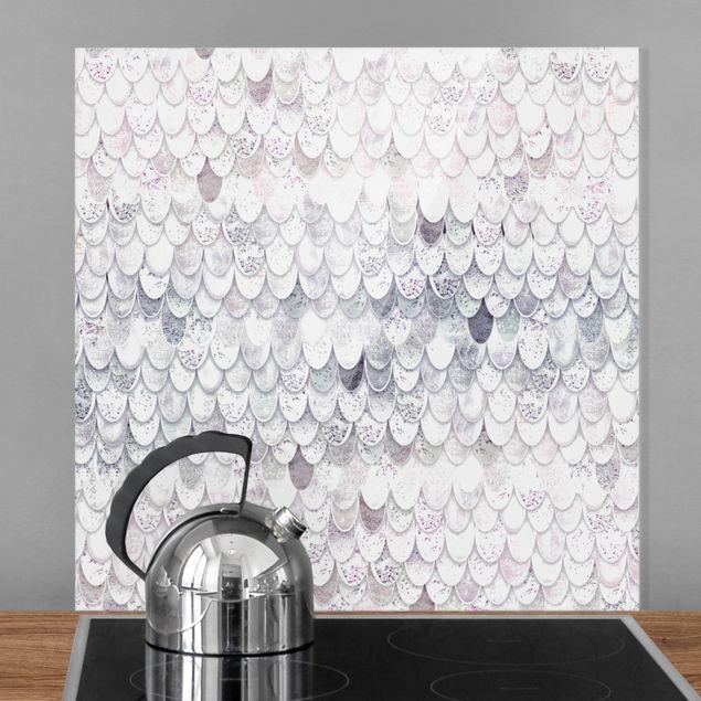 Spritzschutz Glas - Meerjungfrauen Magie - Quadrat 1:1
