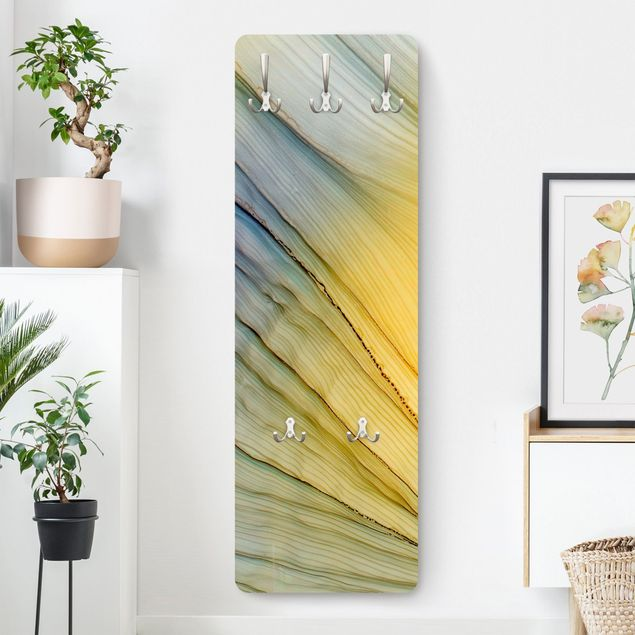 Garderobe - Melierter Farbtanz in Honig