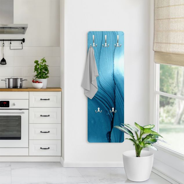 Garderobe - Meliertes Blau