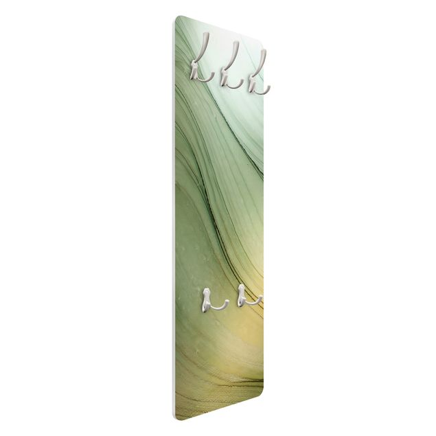Garderobe - Meliertes Grün mit Honig