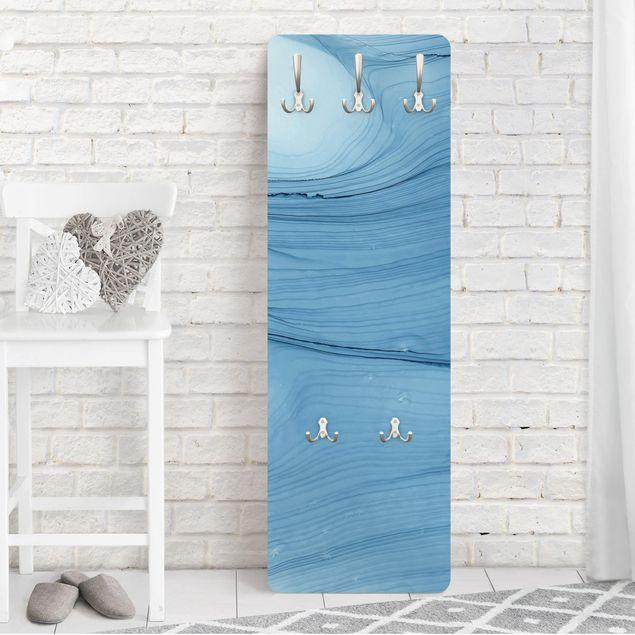 Garderobe - Meliertes Mittelblau