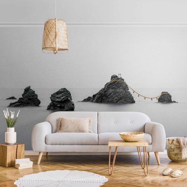 Metallic Tapete - Meoto Iwa - die verheirateten Felsen