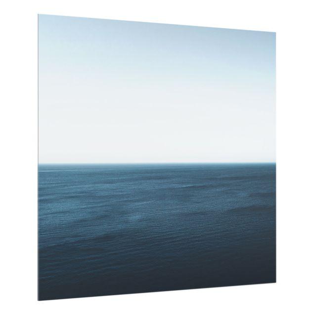 Spritzschutz Glas - Minimalistischer Ozean - Quadrat 1:1