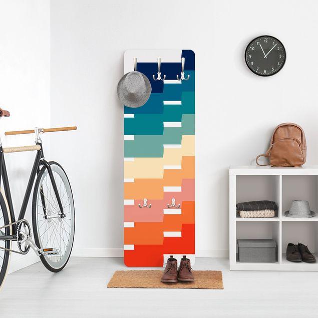 Garderobe - Moderne Regenbogen Geometrie
