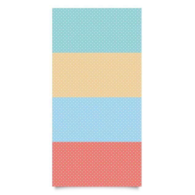 klebefolie kinderzimmer - pastell-farben weiß gepunktet - türkis ... - Kinderzimmer Rot Weis Gepunktet