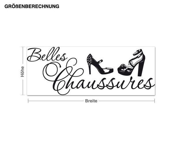 Möbeltattoo Belles Chaussures
