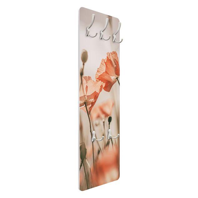 Garderobe - Mohnblüten im Sommerwind