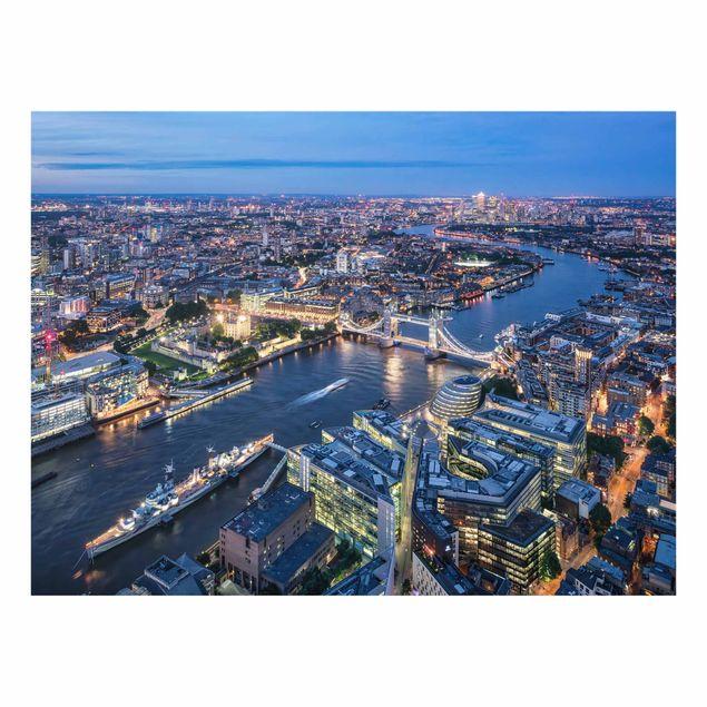 Spritzschutz Glas - Nachts in London - Querformat 4:3