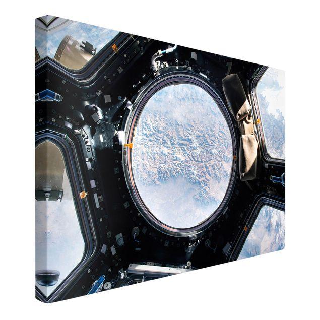 Leinwandbild - NASA Fotografie Blick auf die Erde aus der ISS - Querformat 3:2