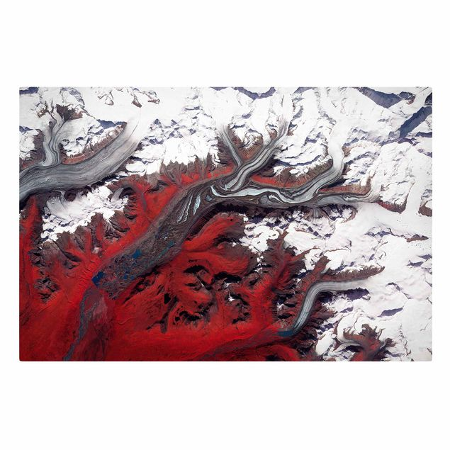 Leinwandbild - NASA Fotografie Gletscher in Alaska - Querformat 3:2
