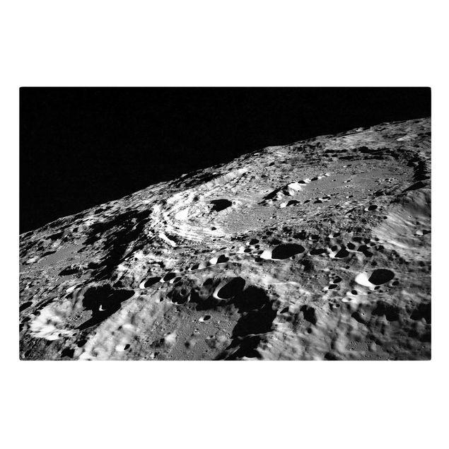 Leinwandbild - NASA Fotografie Mondkrater - Querformat 3:2