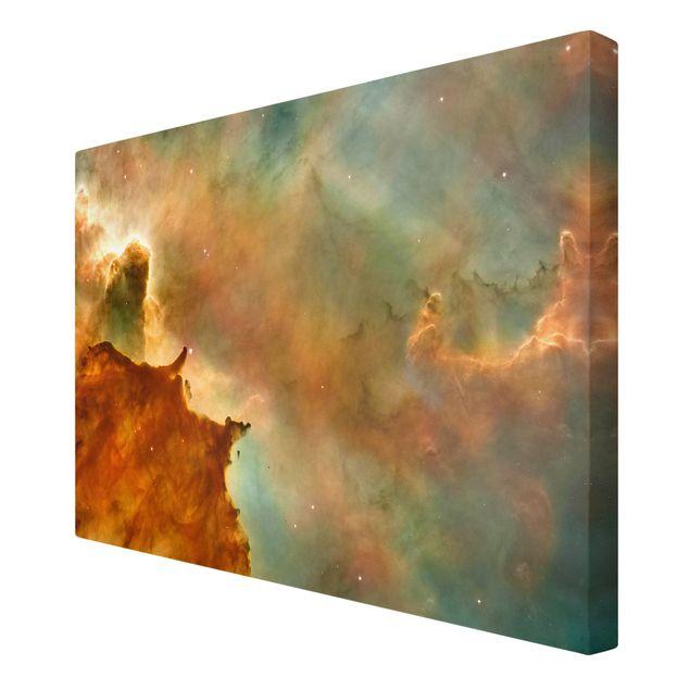 Leinwandbild - NASA Fotografie Orangener Weltraumnebel - Querformat 3:2