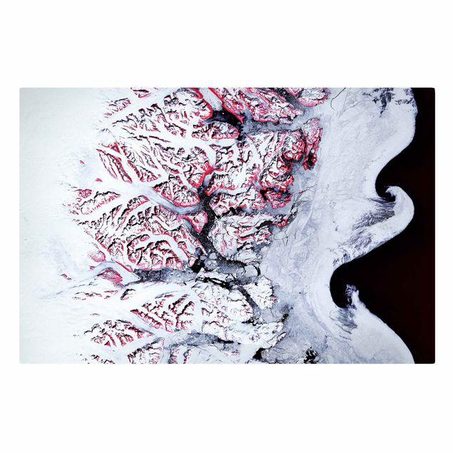 Leinwandbild - NASA Fotografie Südostküste Grönland - Querformat 3:2