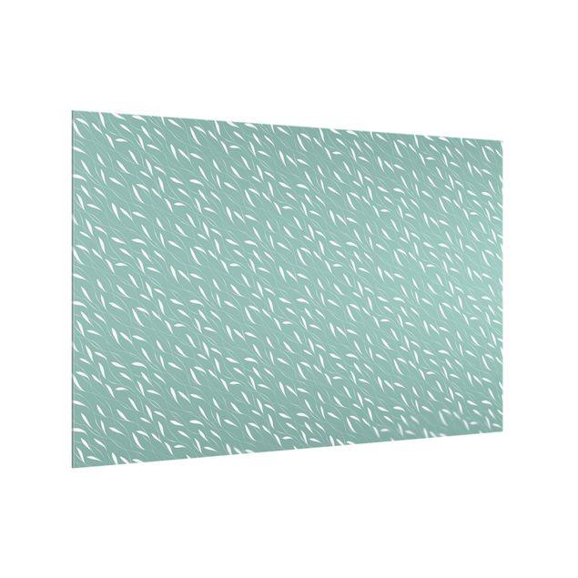 Spritzschutz Glas - Natürliches Muster Windhauch auf Blau - Querformat 3:2