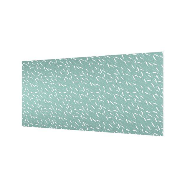 Spritzschutz Glas - Natürliches Muster Windhauch auf Blau - Querformat 2:1