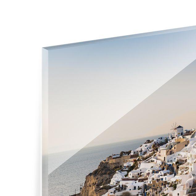 Spritzschutz Glas - Oia Panorama - Querformat 2:1