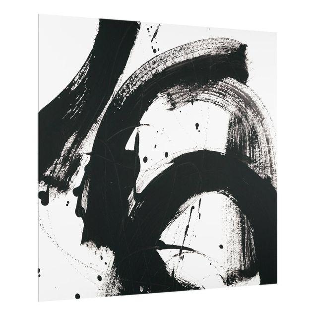 Spritzschutz Glas - Onyx in Bewegung - Quadrat 1:1