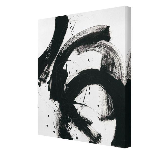 Leinwandbild - Onyx in Bewegung - Hochformat 3:4