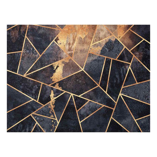Spritzschutz Glas - Onyx mit Gold - Querformat 4:3