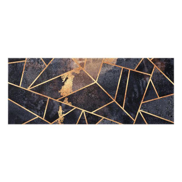 Spritzschutz Glas - Onyx mit Gold - Panorama 5:2