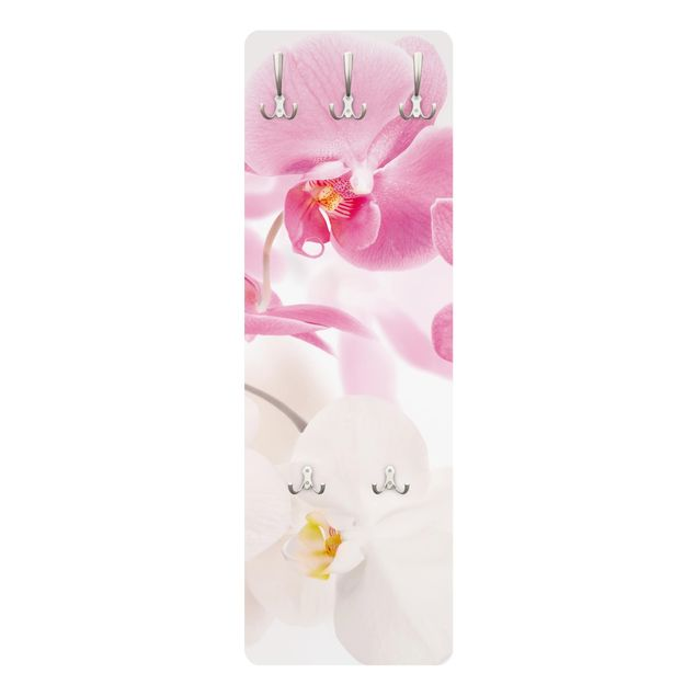 Orchideen Garderobe - Delicate Orchids - Blumen Weiß Rosa Pink
