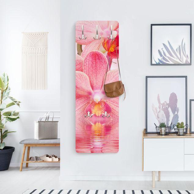 Orchideen Garderobe - Rosa Orchideen auf Wasser - Blumen