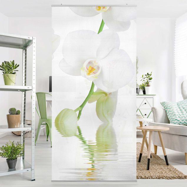 Raumteiler - Wellness Orchidee - Blumenbild 250x120cm
