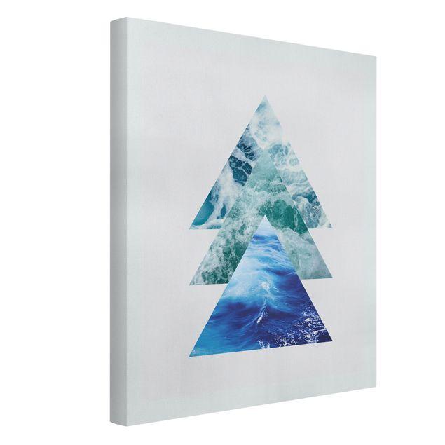 Leinwandbild - Ozean Dreiecke - Hochformat 3:4