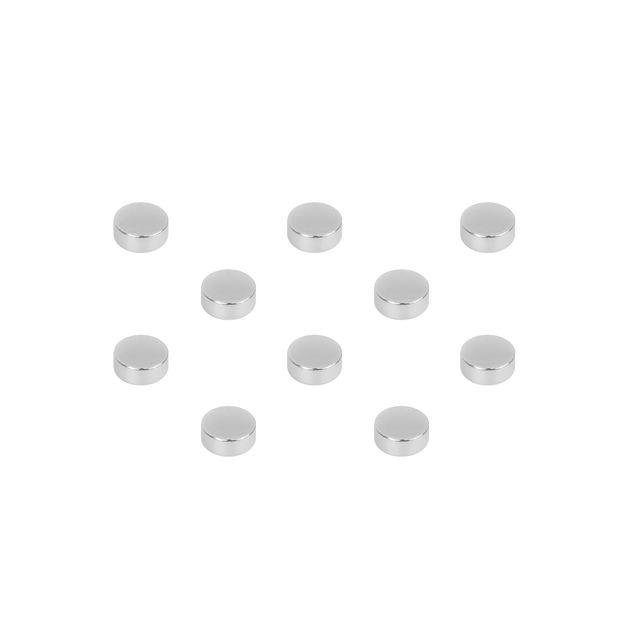 10 Scheibenmagnete Set - N42 Nickel