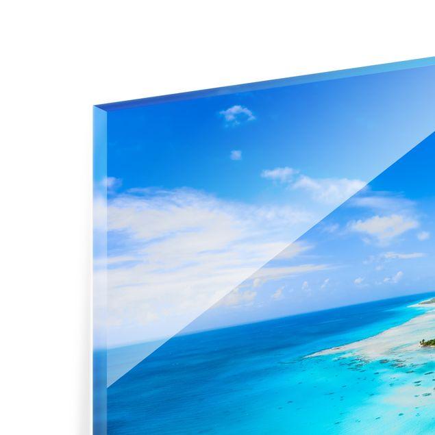 Spritzschutz Glas - Paradies auf Erden - Querformat 2:1